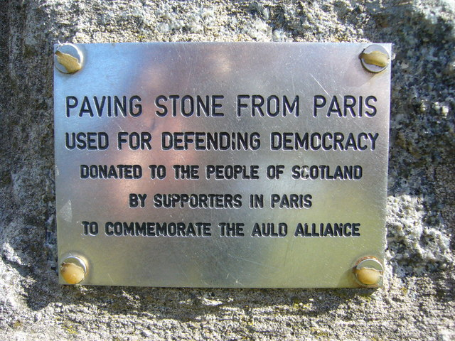 Scottish Parliament cairn plaque