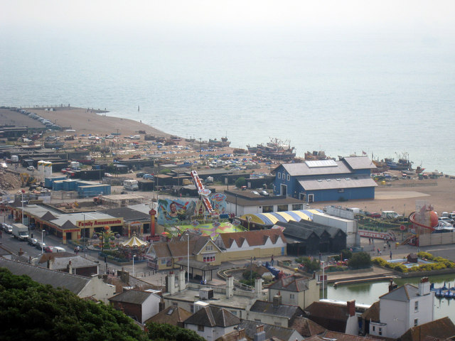 Fun Park, Lifeboat Station and Fishing Boats