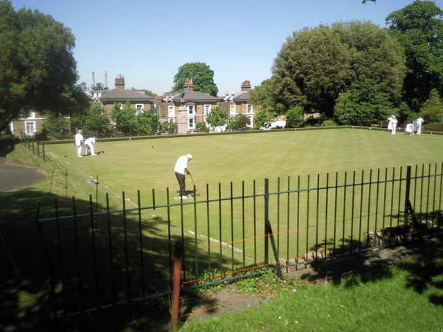 Bowling green at Clarence Place, Gravesend