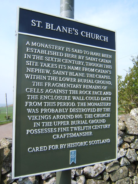 Information board, St Blane's Church