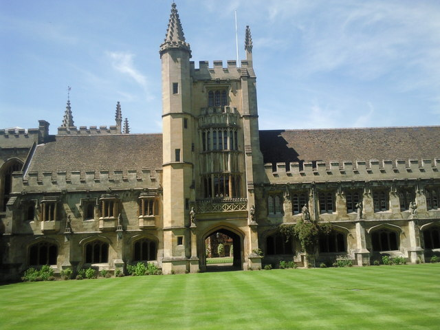 Looking across the Cloister, Magdalen College, Oxford