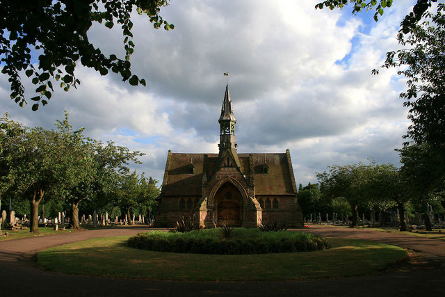 The chapel in Long Eaton Cemetery