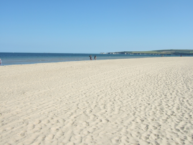 The northern end of Studland Bay beach