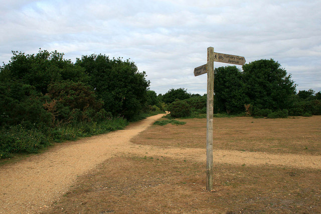 Signpost on Turbary Common