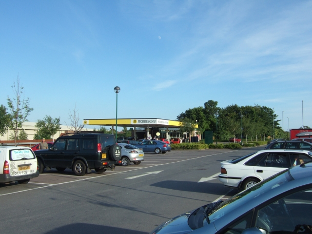 The car park at Morrisons supermarket, Radipole, on the edge of Weymouth