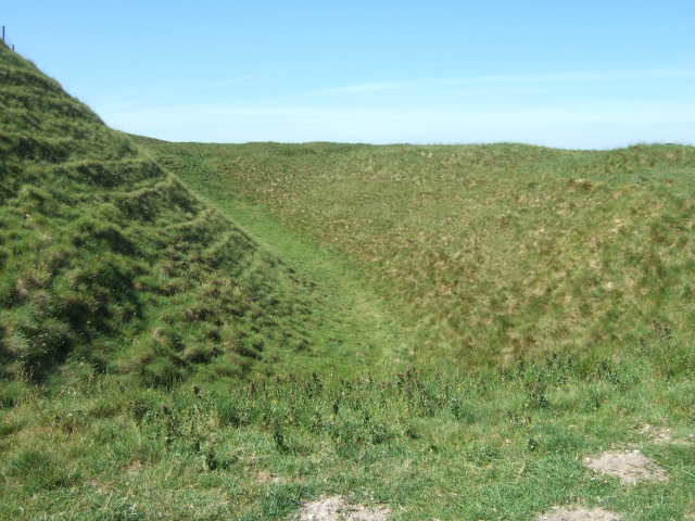 Rampart and ditch of Maiden Castle