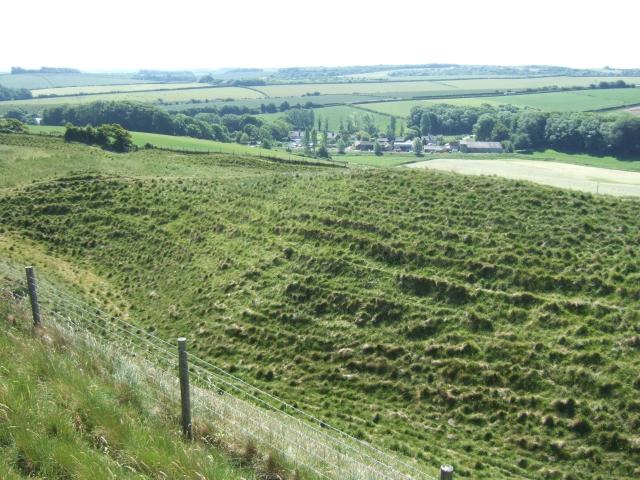 Winterborne Monkton from Maiden Castle