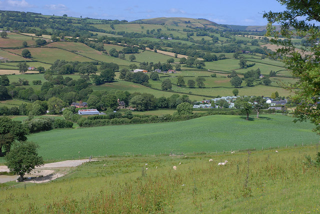 View towards the Trannon valley