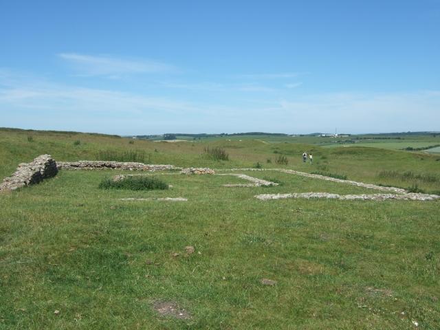 Romano-British temple ruins, Maiden Castle