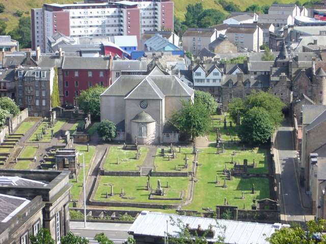 Canongate Kirk from the Calton Hill