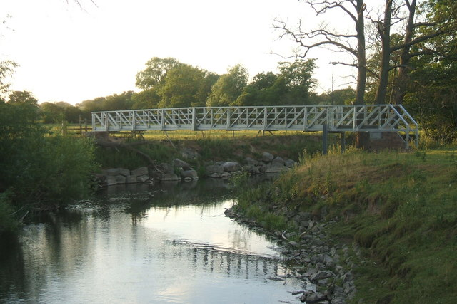 """Aluminium"" Footbridge over the River Clwyd"