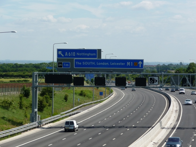 M1 near junction 26