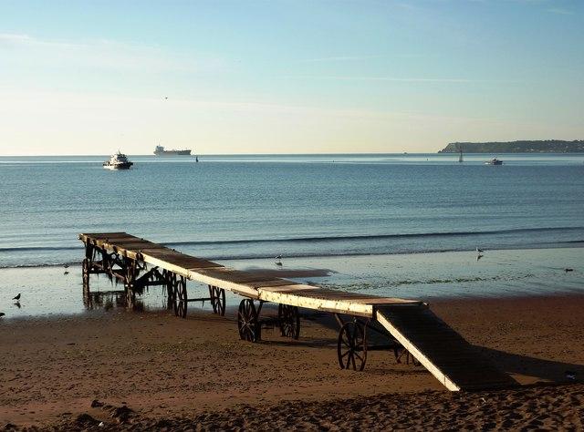 Landing stage, Paignton beach