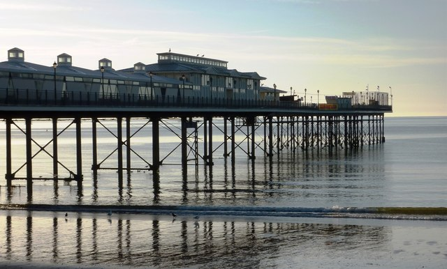 Paignton pier, early morning