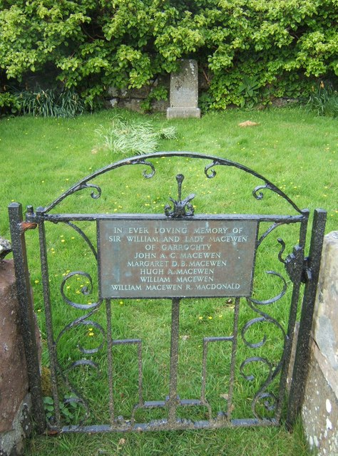 Final resting-place of Sir William Macewen