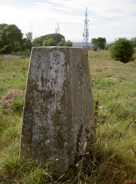Trig point and masts, Dundry