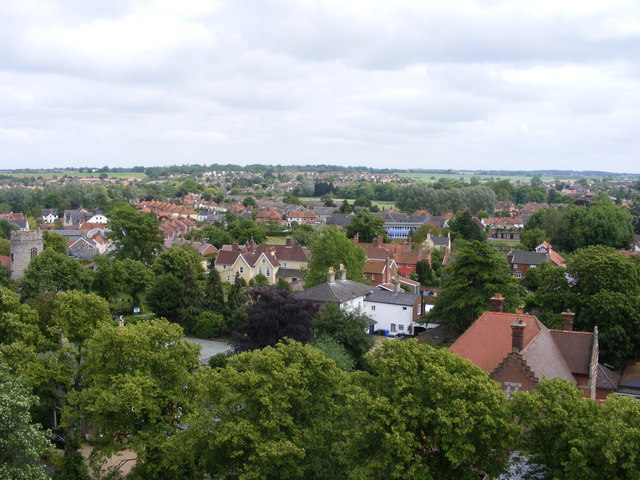 The rooftops of Bungay
