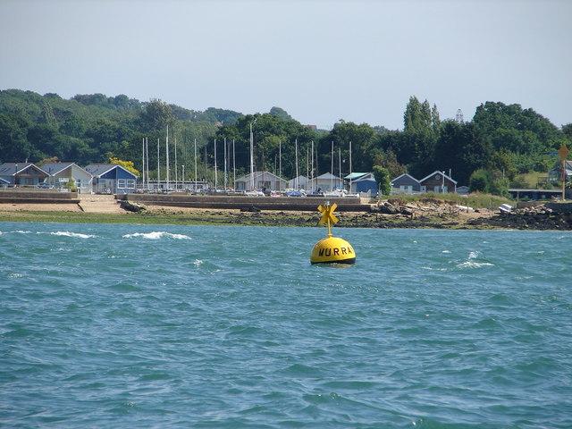 Murrays racing buoy and Gurnard Bay