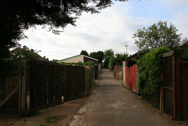 Driveway to garages
