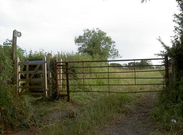 Footpath and farm gate