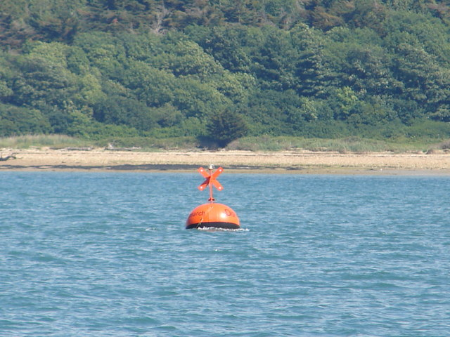 E-digital Research racing buoy and foreshore beyond