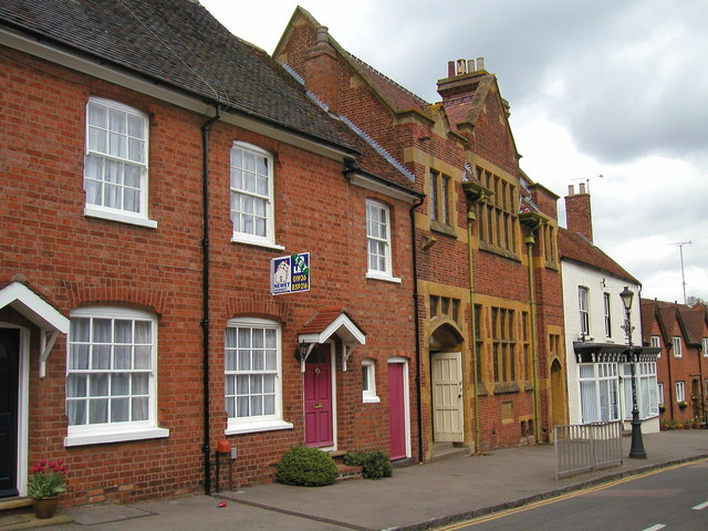 The Parochial Hall and neighbouring buildings, High Street, Kenilworth