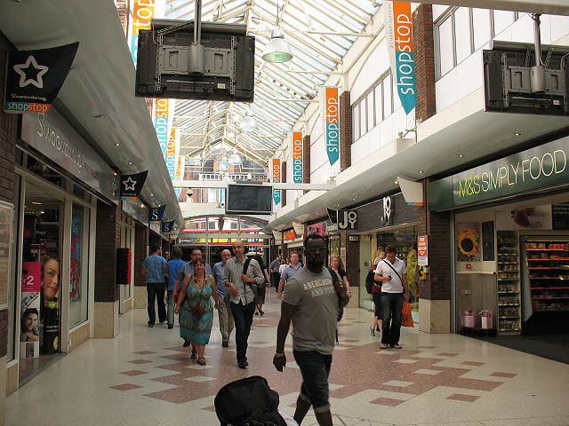 Shopping arcade at Clapham Junction station