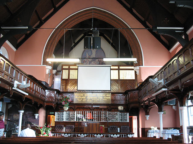 Ransom Pentecostal church: interior