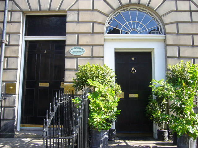 Doors in Abercromby Place, New Town