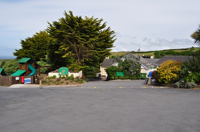 The Footpath through Easewell Farm Holiday Park