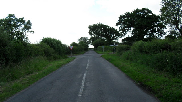 Crossroads in the country