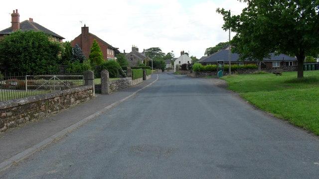 Road passing through Great Orton in Cumbria