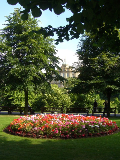 Flower bed in Princes Street Gardens