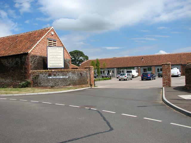 Entrance to St Nicholas' Court, Dersingham