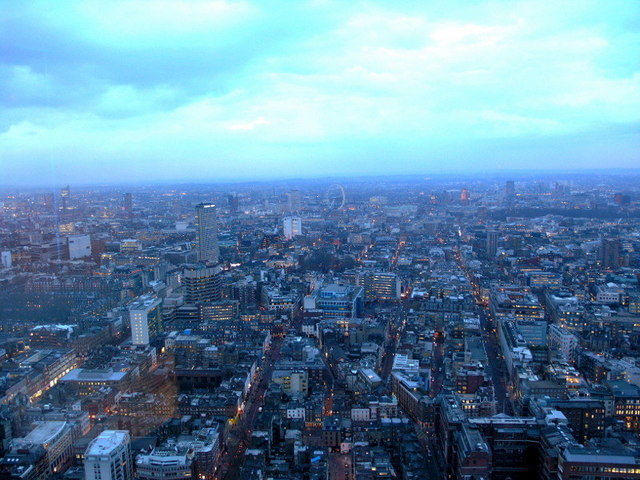Looking South-East from Telecom Tower, London taken 2006