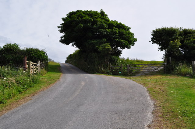 The road leading away from Damage Barton
