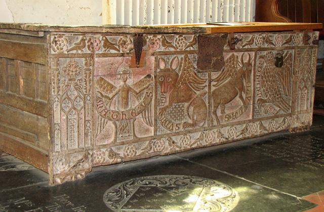 St Nicholas' church in Dersingham - C14 chest