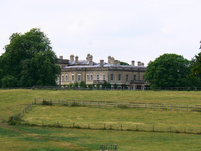 Fields, trees and paddock, near Hartham Park