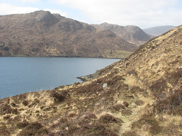 Path beside Loch Sealg
