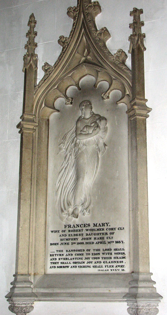 St Mary's church in Docking - C19 memorial