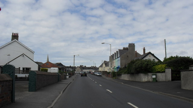 The B5302 heading in to Silloth