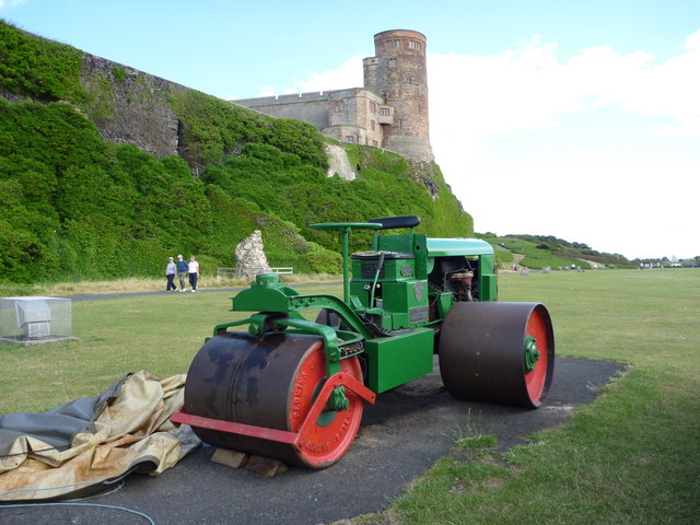 The Covers Are Off - It's Time for the Heavy Roller at Bamburgh Cricket Ground