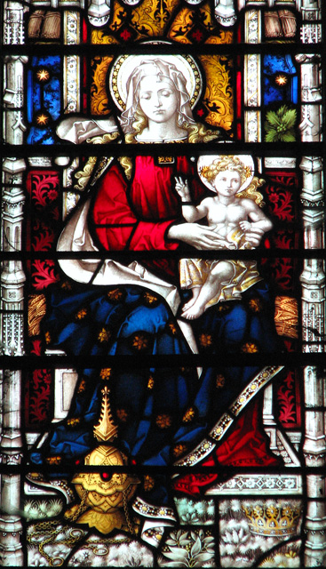 St Mary's church in Docking - west window (detail)