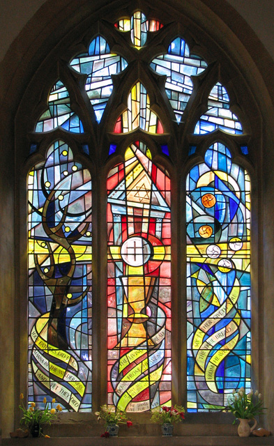 St Mary's church in Docking - modern stained glass