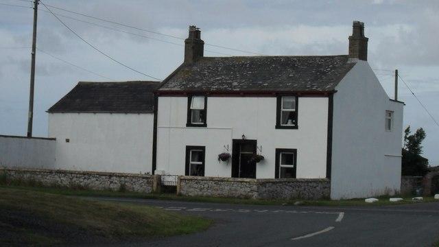 House near the beach at Mawbray in Cumbria