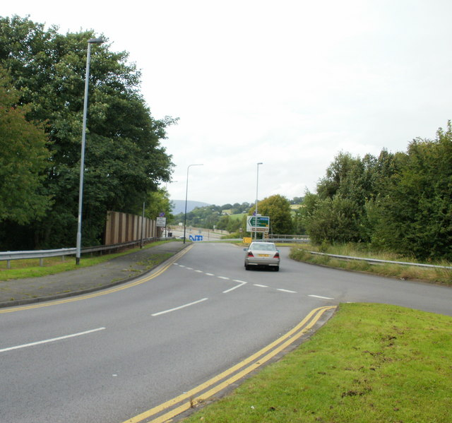 Motorway slip road, Caerleon Road, Newport