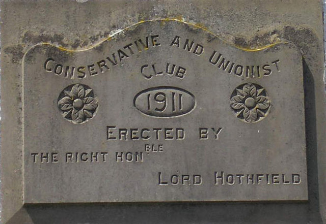 Dufton Conservative and Unionist Club datestone