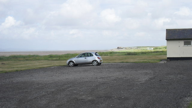 Beach car park at Allonby in Cumbria
