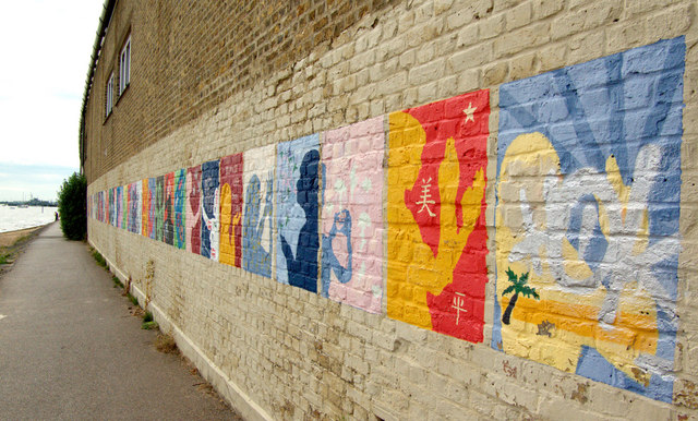 Mural, Chalkwell Station, Southend-on-Sea, Essex