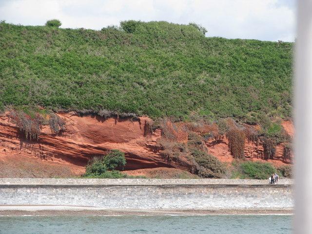 Red sandstone cliffs east of Dawlish